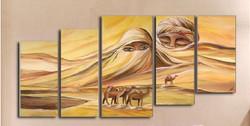 Desert Soul - 67in X 34in (Details Inside),RTCSB_65_6734,Oil Colors,Figurative,Couple,love at desert,Desert Vision