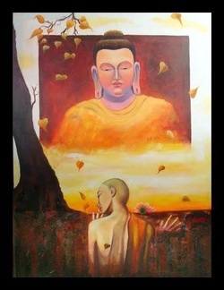 buddha, gautam buddha, hands of buddha, abstract buddha, standing buddha, buddha in yellow, buddha with monk, buddha with praying monk
