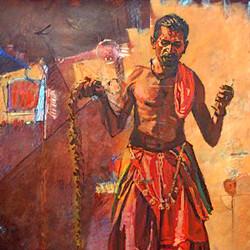 Man, man with chabuk, man perfomaing dance