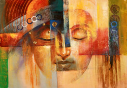 Buddha,Peace,Murlidhar,Peace,Brown,Yellow Shade Buddha,Wheel