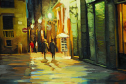 cityscape, city, couple, walking in city, couple walking in city, night, city at night