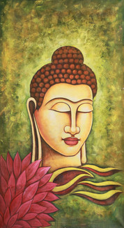 green buddha, buddha in gree, gautam buddha, buddha with lotus