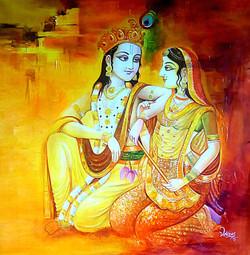 Radha Krishna,Love,Couple,Flute playing