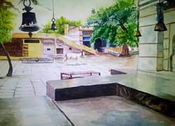 outside temple,God Place,Bells,Meditation,Peace