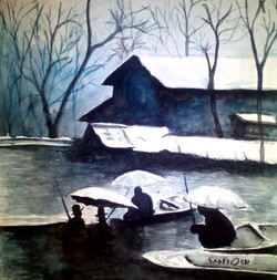Nature,Kashmir,House Boat