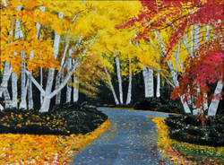 Lets take a walk,Walk Way,Beautiful Way,Yellow red floral way