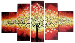 Tree of Life 11 - Handpainted Art Painting - 64in X 40in (Details Inside)