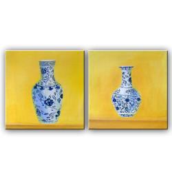 Antique Pair - Handpainted Art Painting - 40in X 20in