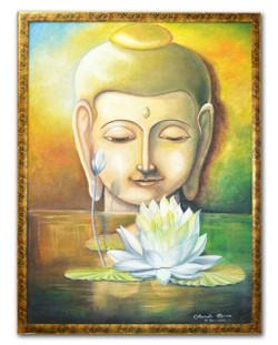 Buddha,Buddha with white lotus,lotus buddha