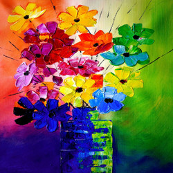 Flower,Floral,Knife Art,Nice Bouqute,Beautiful Flowers,Classic Flower