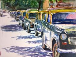 city, cityscap, taxi, taxi stand, many taxia, vehicles, mumbai