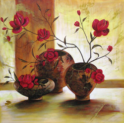 Sweet Pocket - 24in X 24in,RAJEAR04_2424,Acrylic Colors,Flower,Pots - Buy Paintings online in India
