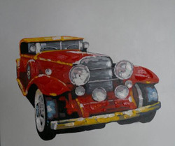 Joyride - 40in x 40in,RTCSD_29_4040,Jip,Vhan,Long Drive,Car - 100% Handpainted Buy Painting Online in India
