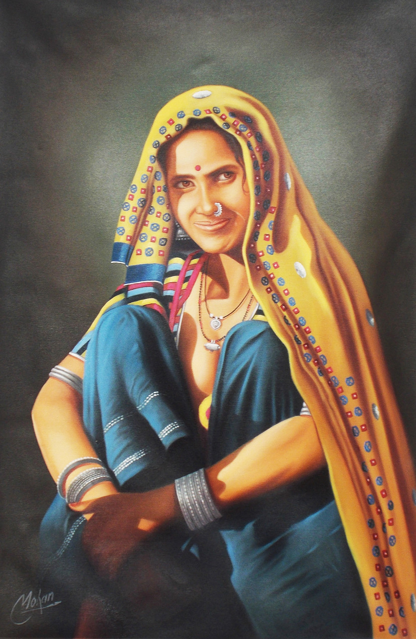 Buy Rajasthani Lady By Mohan Verma Rs 23390 Codeart -6378