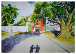 ART_SHLI,Outside Temple of Athani,God Place,Out side view of temple