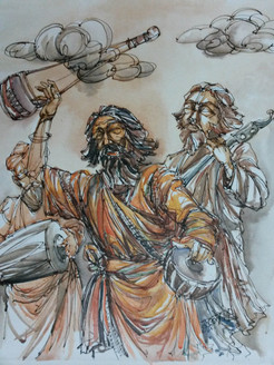 bawl,Figurative,Sadhu,God messenger