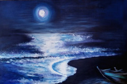 Beauty od Nature,Landscape,Moon light,Beayty of sea