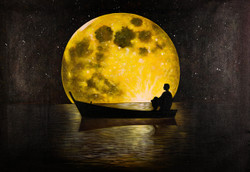 Moon Light Journey,Man at Moon Light,Night Life,Long Journey