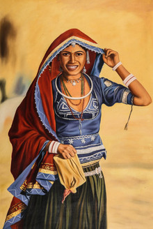 Women,Female,Lady ,Rajasthan,Life in Rajasthan,Rajasthani Women,Desert life,rajasthani paintings