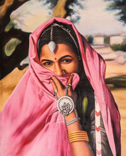 Women,Female,Lady ,Rajasthan,Life in Rajasthan,Rajasthani Women,Desert life,Lady in Pink Dhagara