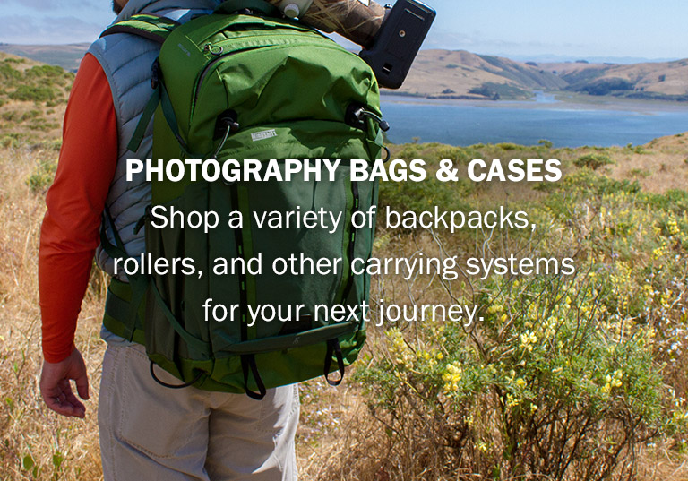 Photography Bags and Cases | Shop a variety of backpacks, rollers, and other carrying systems for your next journey.