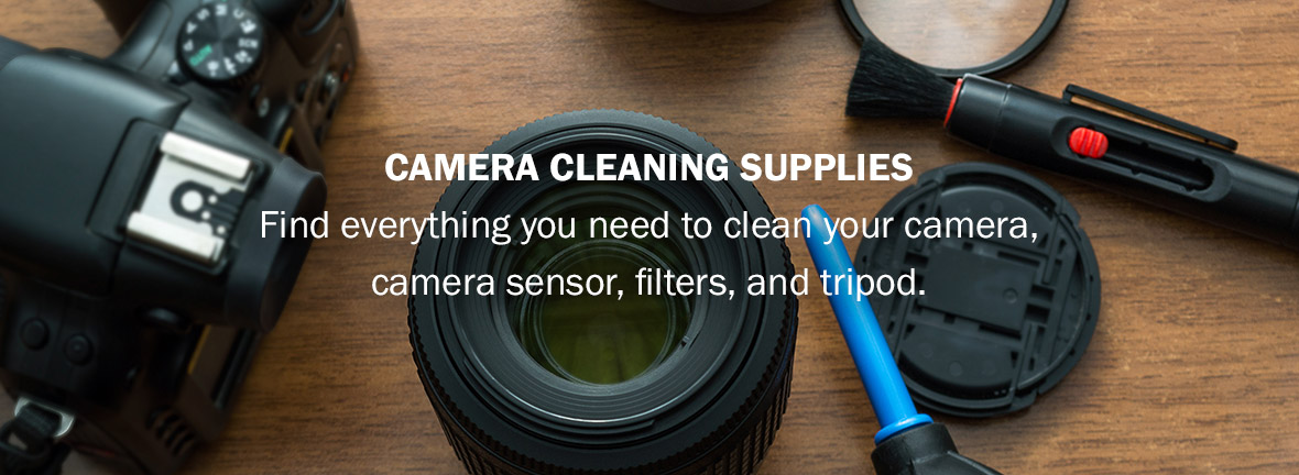 Camera Cleaning Supplies | Find everything you need to clean your camera, camera sensor, filters, and tripod.
