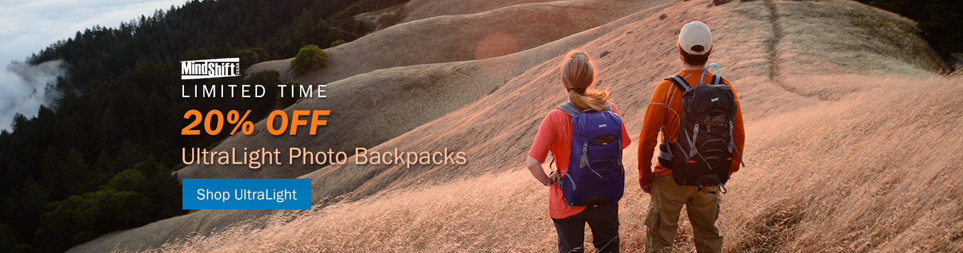 Limited Time! 20% Off UltraLight Photo Backpacks by MindShift Gear. Shop UltraLight >