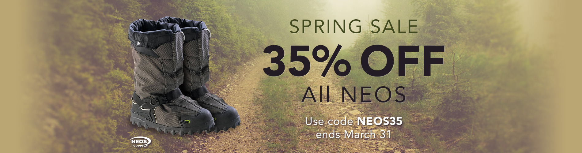 Spring Sale - 35% Off All NEOS Overshoes. Use code NEOS35 at checkout. Ends March 31.