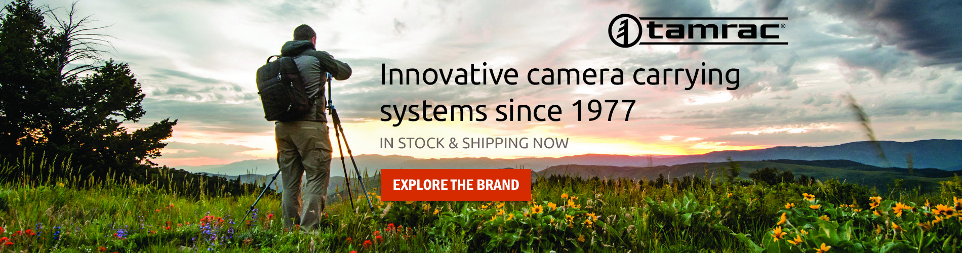 Introducing Tamrac, Innovative camera carrying systems since 1977. In stock & shipping now! Explore the Brand →