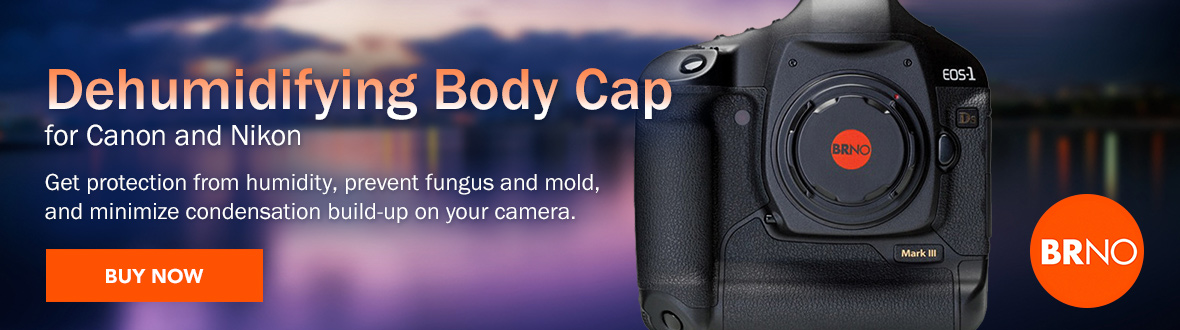 Dehumidifying Body Cap for Canon and Nikon Cameras | Get protection from humidity, prevent fungus and mold, and minimize condensation build-up on your camera. BUY NOW →