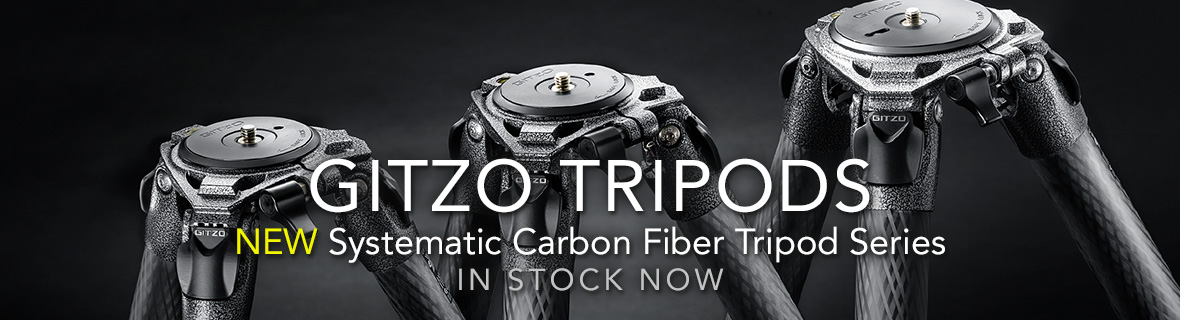 GITZO TRIPODS - NEW Systematic Carbon Fiber Tripod Series In Stock Now