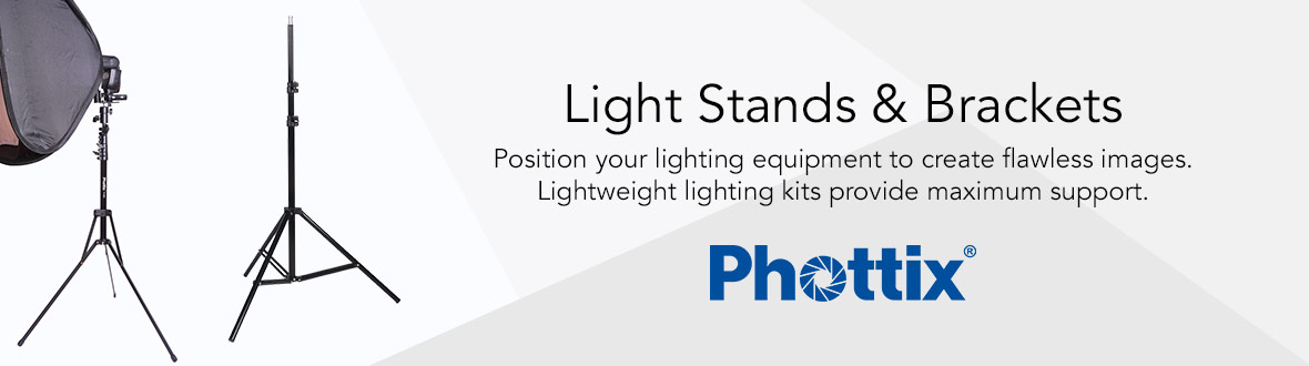 Light Stands & Brackets | Position your lighting equipment to create flawless images. Lightweight lighting kits provide maximum support.