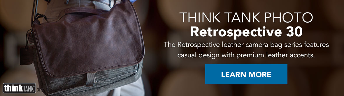Think Tank Photo Retrospective 30 | The Retrospective leather camera bag series features casual design with premium leather accents. LEARN MORE →