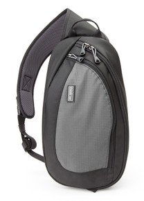 TurnStyle camera sling bag in Charcoal