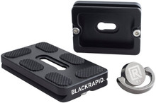 Camera strap tripod mount BlackRapid Tripod Plate allows you to easily switch shooting from your tripod to any BlackRapid DSLR camera strap with ease. Pictured are both size options (50mm and 70mm) as well as the included FastenR.
