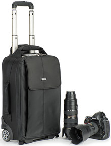 Front view of the Airport Advantage Rolling Camera Bag with gear (gear not included).