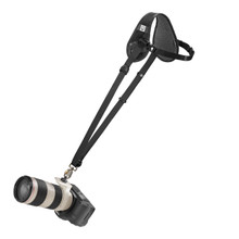 BlackRapid Curve Breathe Strap with camera attached