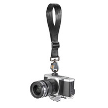 Breathe Adjustable Camera Wrist Strap with FR-5 attached to a camera