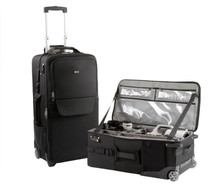 Large capacity rolling camera and video case carries everything you need