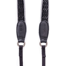 Lightweight camera strap in Black with Grey trim