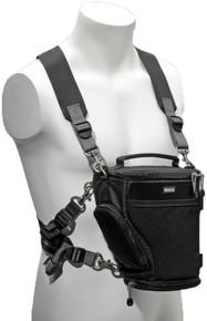 Carry your Digital Holster v2.0 expandable camera bag in front of your torso