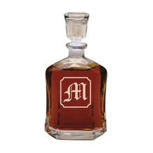 Personalized Whiskey Decanter with Initial