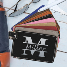 Engraved Personalized Leather Luggage Tags