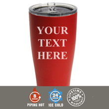 Engraved Powder Coated SIC Cup - Your Text Here Design