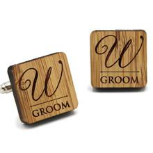 Custom Engraved Wood Cuff Links