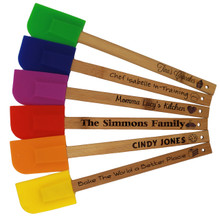 Custom Engraved Personalized Silicone Spatula