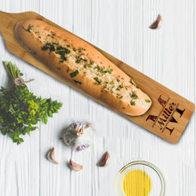 Custom Personalized Bamboo Bread Cheese & Meat Serving Platter