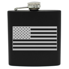 Engraved Flag Flask