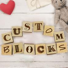 Custom Engraved Baby Blocks Sets