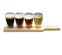 Personalized Beer Flight Set - Natural
